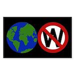 Earth Not W Rectangle Sticker