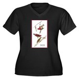 Audubon Purple Finch Birds (Front) Women's Plus Si