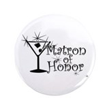 "Black C Martini Matron Honor 3.5"" Button (100 pack"