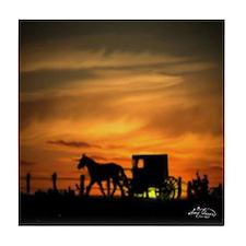 Amish Buggy Tile Coaster