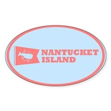 Nantucket Island Oval Decal