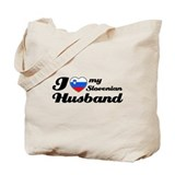 I love my Slovenian Husband Tote Bag