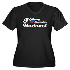 I love my Slovenian Husband Women's Plus Size V-Ne