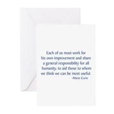 Curie 2 Greeting Cards (Pk of 10)