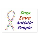 Dogs Love Autistics Postcards (Package of 8)