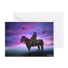 Whisper mountain trail Greeting Card