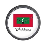 Maldives Flag Wall Clock