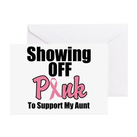 Showing Off Pink Aunt Greeting Cards (Pk of 10)