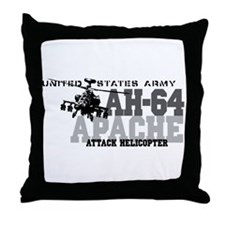 Army Apache Helicopter Throw Pillow