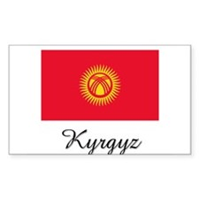 Kyrgyz Flag Rectangle Decal
