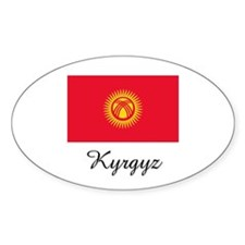Kyrgyz Flag Oval Decal