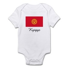 Kyrgyz Flag Infant Bodysuit