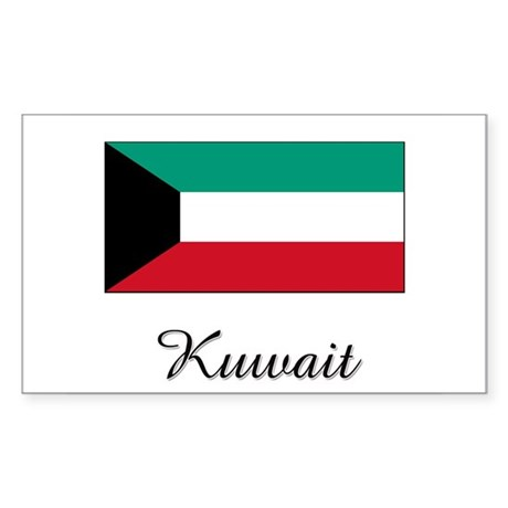 Kuwait Flag Rectangle Sticker