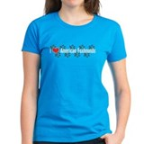 I heart American Foxhound Women's Blue T-Shirt