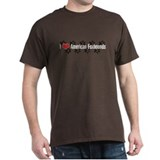 I heart American Foxhounds Brown T-Shirt