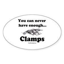 Clamps Design #3 Oval Decal