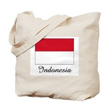 Indonesia Flag Tote Bag