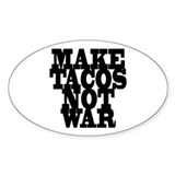 MAKE TACOS Oval Sticker (50 pk)