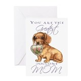 Dachshund Mother's Day Greeting Card