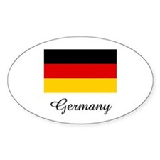 Germany Flag Oval Decal