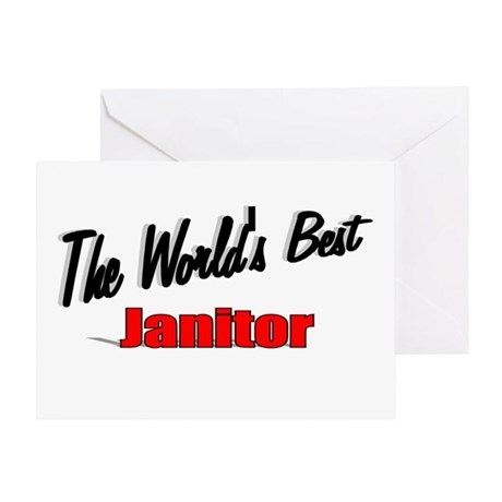 &quot;The World's Best Janitor&quot; Greeting Card
