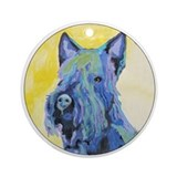 A Scottish Terrier Keepsake (Round)