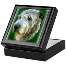 Irish Wolfhound Head Study Keepsake Box