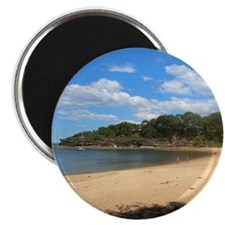 Sunny Pearl Beach, NSW Magnet (Round)