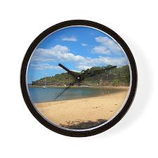 Sunny Pearl Beach, NSW Wall Clock