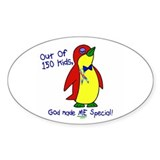 God Made Me Special 1.2 (Autism) Oval Decal