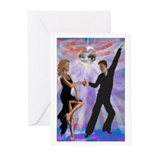 Disco Dancing Greeting Cards (Pk of 10)