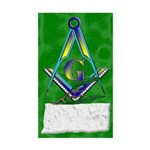 Masonic Ashlar And Acacia Rectangle Sticker
