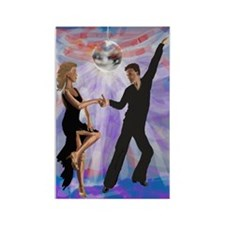 Disco Dancing Rectangle Magnet (100 pack)