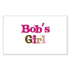 Bob's Girl Rectangle Decal