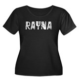 Rayna Faded (Silver) Women's Plus Size Scoop Neck