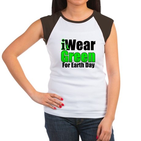 I Wear Green Earth Day Women's Cap Sleeve T-Shirt