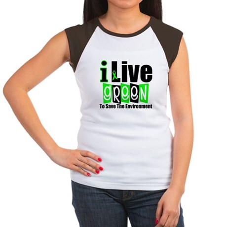 I Live Green Environment Women's Cap Sleeve T-Shir