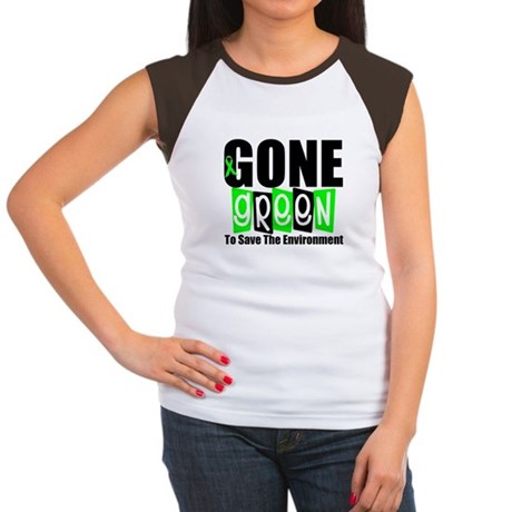 Gone Green Environment Women's Cap Sleeve T-Shirt