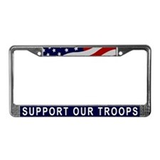 Support Our Troops License Plate Frame