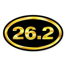 26.2 Gold and Black Marathon Oval Decal