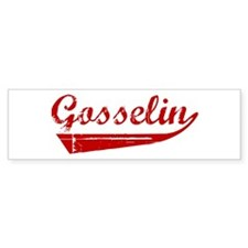 Gosselin (red vintage) Bumper Bumper Sticker