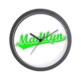 Retro Madilyn (Green) Wall Clock