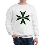 Green Maltese Cross Sweatshirt