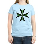 Green Maltese Cross T-Shirt for Women