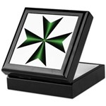 Green Maltese Cross Keepsake Box