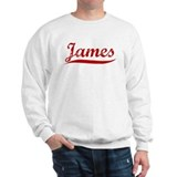 James (red vintage) Sweatshirt