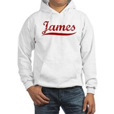 James (red vintage) Hoodie