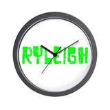 Ryleigh Faded (Green) Wall Clock