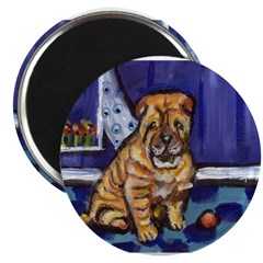 "SHAR PEI whimsical unique art 2.25"" Magnet (10 pac"