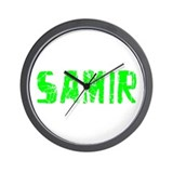 Samir Faded (Green) Wall Clock